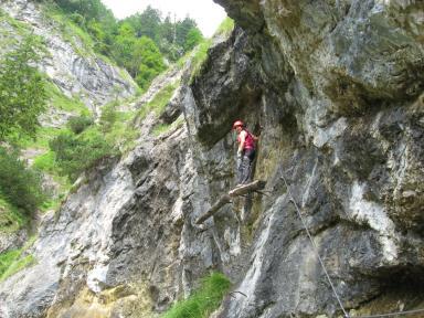 Klettersteig Hausbachfall : Hausbachfall klettersteig bei reit im winkl