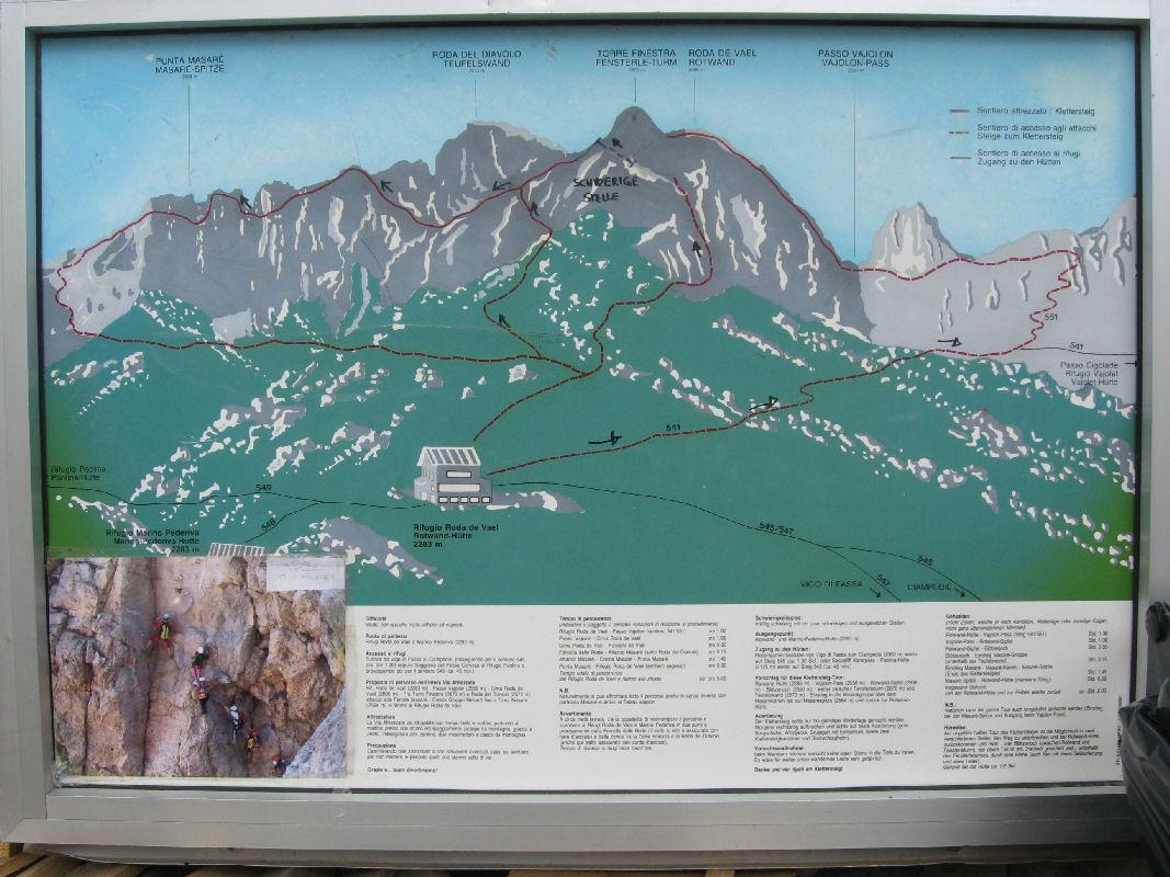 Klettersteig Rosengarten : Masare klettersteig
