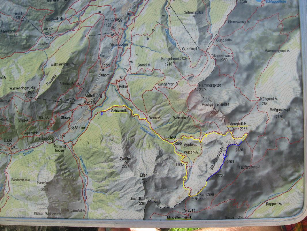 Klettersteig Kleinwalsertal : Mindelheimer klettersteig